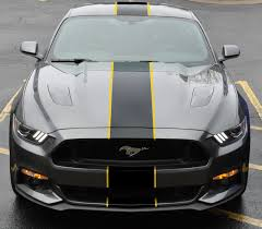 Yellow Mustang With Black Stripes 2015 S550 Mustang Forum Gt Gt350 Gt500 Mach 1 Ecoboost