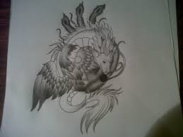 phoenix dragon ying yang tattoo sketch photos pictures and