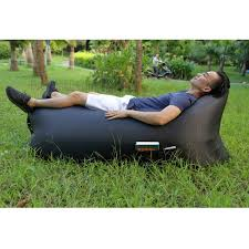 inflatable air bag air sofa couch with side pocket for beach