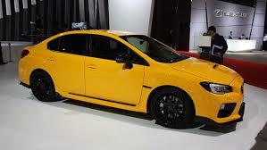 yellow subaru wrx 2015 tokyo motor show subaru wrx sti s207 limited to 400 units