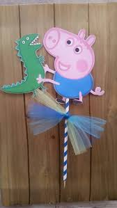 George Pig Cake Decorations George And Dinosaur Cake Topper Peppa Pig Diy Idea Birthday