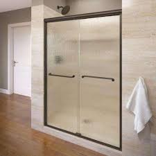 oil rubbed bronze shower doors showers the home depot