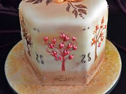 thanksgiving supplies thanksgiving cake airbrushed trees with custom stencils and royal