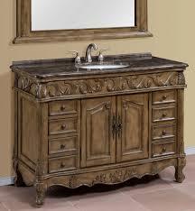 48 inch single sink bathroom vanity with marble top
