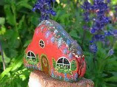 painted garden rock cottage fairy garden cottage by mypaintedswan