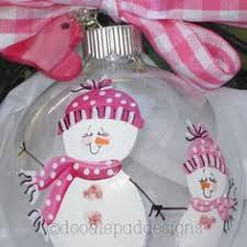 Mother Daughter Christmas Ornaments Father And Son Or Grandfather And Grandson By Doodlepaddesigns