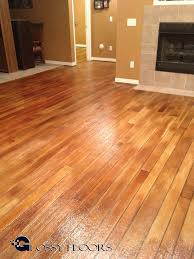 concrete floors that look like wood glossy floors