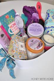 mothers day gift baskets s day gift idea spa basket honey we re home
