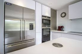 german design kitchens ips pronorm designed this contemporary white handleless kitchen