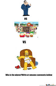 American Dad Meme - american dad vs south park vs the simpsons by fenixzor meme center