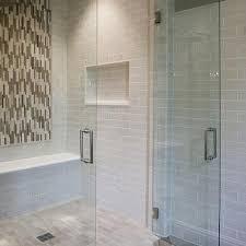 bathroom shower tile design gray mosaic accent shower tiles design ideas