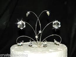 snowflake cake topper swarovski elements snowflake wedding cake topper