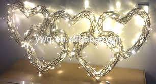 heart shaped christmas lights willow heart shaped wreath for christmas with light decoration buy