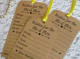 wedding wishes list set of 12 bridal shower or wedding wishing tree tags advice tags