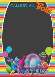 halloween invitation background online free trolls digital invitation digital invitations troll party