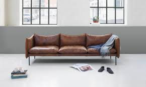 Beautiful Leather Sofas By Swedish Brand Fogia Cate St Hill - Scandinavian design sofas