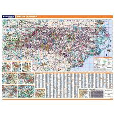 North Carolina State Map by North Carolina Laminated State Wall Map