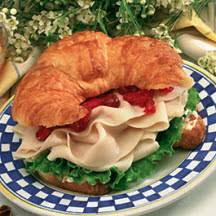 day after thanksgiving turkey croissant sandwich recipe at