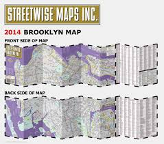 Streetwise Maps Streetwise Brooklyn Map Laminated City Center Street Map Of