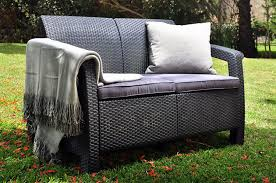 Patio Loveseats Amazon Com Keter Corfu Love Seat All Weather Outdoor Patio