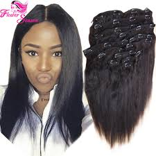 Human Hair Extensions With Clips by Yaki Hair Extensions Clip In Tape On And Off Extensions