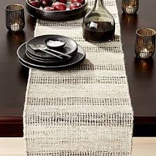 Coffee Table Linens by Table Runners Linen Cotton And Polyester Crate And Barrel