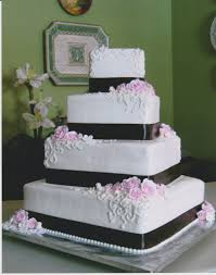 square wedding cakes best square wedding cake brown pink zemgbd for wedding cakes