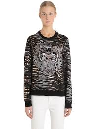 kenzo menu swindon kenzo tiger embroidered cotton sweatshirt