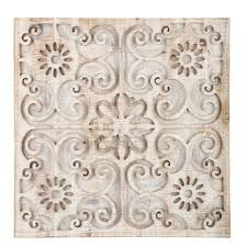 white washed carved floral wood wall decor hobby lobby 1472323