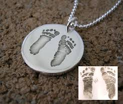 footprint necklace personalized footprints necklace pendant the necklace