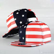 Usa Flag Hats Usa American Flag Hat Stars Stripes Baseball Cap Snapback Flat Hip