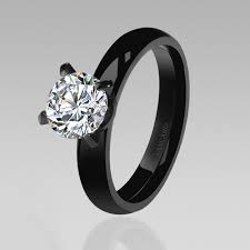 black cubic zirconia engagement rings black s wedding rings stunning solitaire style white cubic