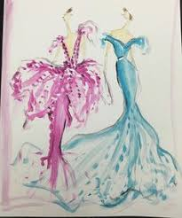 sketch of the day beaded cape collar gown i created for keltie