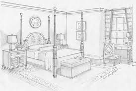 how to draw a bedroom drawing tutorial room in two point
