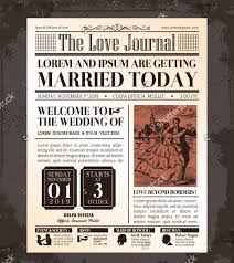 vintage wedding program template wedding newspaper templates 7 word pdf psd indesign format