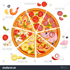 cuisine types types pizza basic ingredients food objects stock vector 763871734
