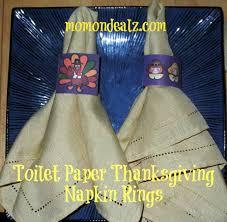 thanksgiving craft toilet paper napkin rings