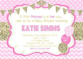 pink and gold baby shower invitations baby shower invitations gold pink baby shower
