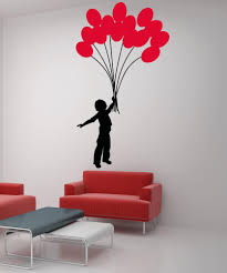 wall decals of people silhouette wall decals stickerbrand vinyl wall decal sticker boy with balloon bouquet 5007