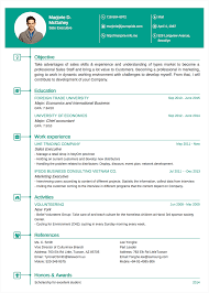 Resume Templates Mobile by Professional Resume Cv Templates Topcv Me