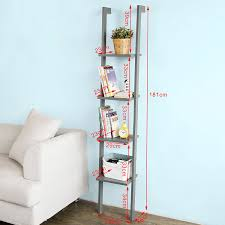 amazon com sobuy modern ladder bookcase made of wood with four