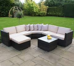 Outdoor Rattan Corner Sofa Rattan Corner Sofa With White Cushions Leather Sofa Rattan