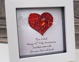 40 year anniversary gift 40th anniversary etsy