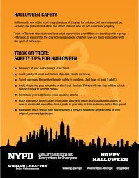 halloween safety tips nypd news