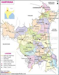 Blank Map Of Northeast States by Haryana Map State Districts And City Information
