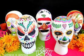 dia de los muertos sugar skulls family craft dia de los muertos foam sugar skulls