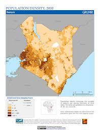 Kenya Africa Map maps population density grid v1 sedac