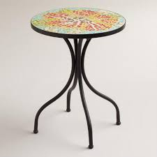 Mosaic Accent Table Flower Cadiz Mosaic Accent Table World Market