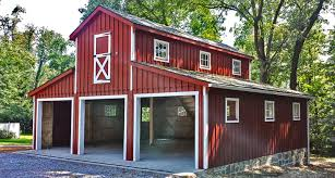 elegant red small horse barn plans that can be decor with grey