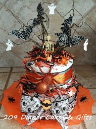Gifts Halloween Halloween Skeleton Spider Diaper Cake 209 Diaper Cakes U0026 Gifts
